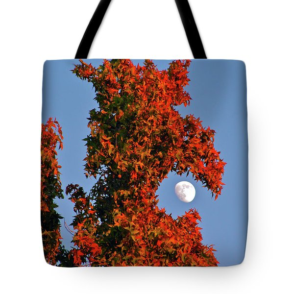 Fire Dragon Tree Eats Moon Tote Bag