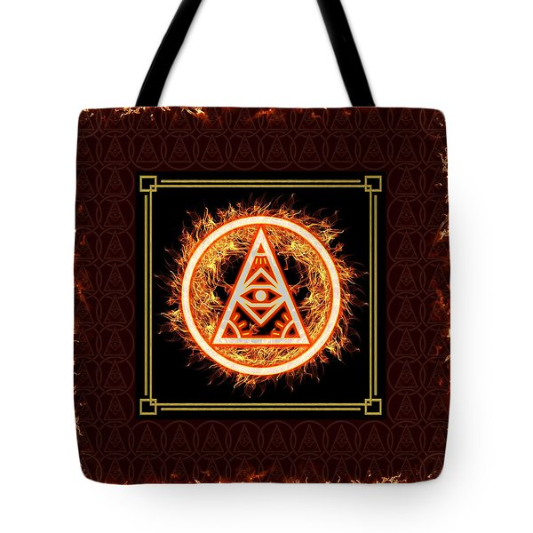 Tote Bag featuring the digital art Fire Emblem Sigil by Shawn Dall