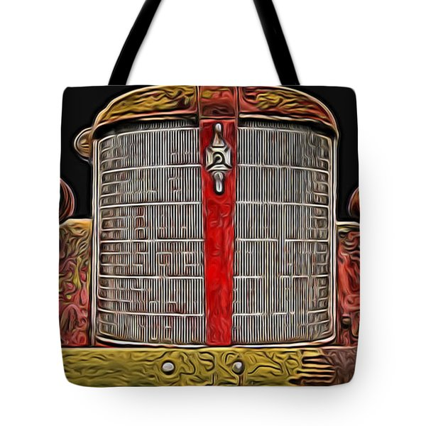 Fire Engine Red Tote Bag