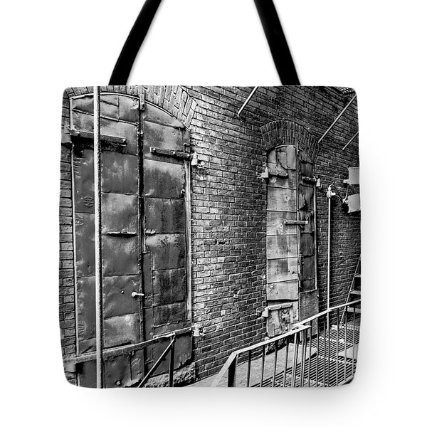 Fire Escape And Doors Tote Bag