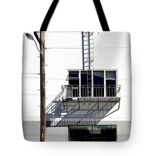 Fire-escape  Shadow Tote Bag