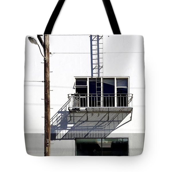 Fire-escape  Shadow Tote Bag by Julie Gebhardt