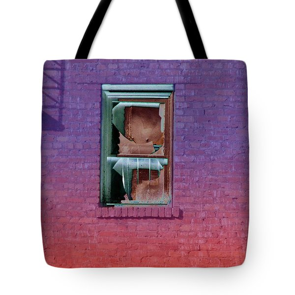 Fire Escape Window 2 Tote Bag by Tim Allen