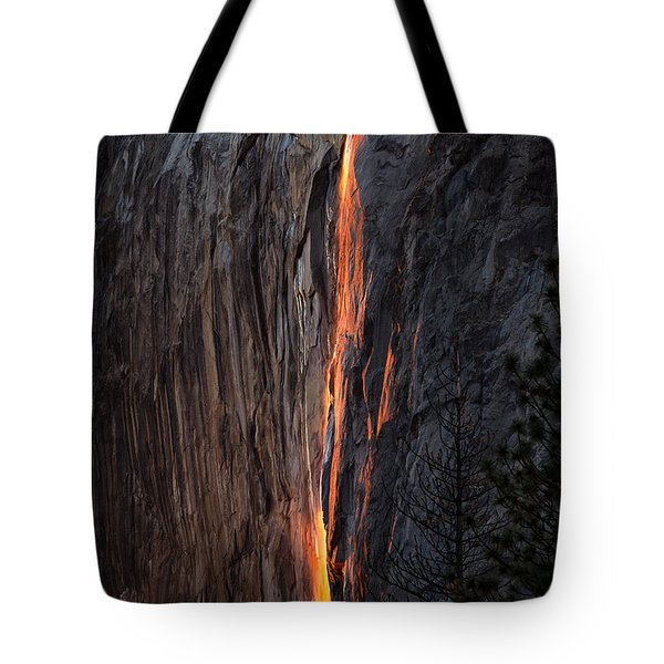 Fire Fall Tote Bag