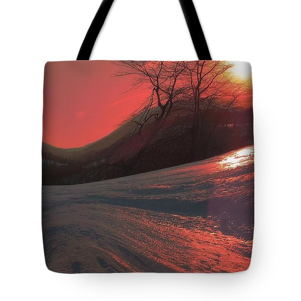 Fire Frost Tote Bag
