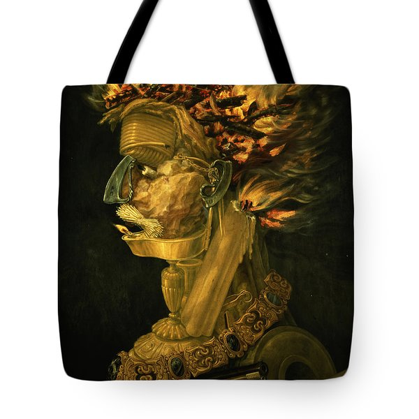 Fire Tote Bag by Giuseppe Arcimboldo