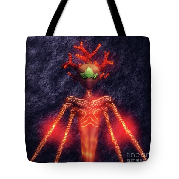 Fire God Of Hell By Sarah Kirk Tote Bag