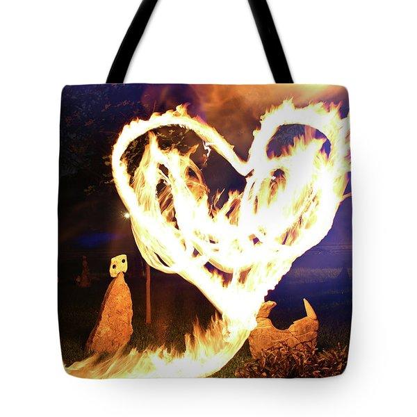 Fire Heart Tote Bag