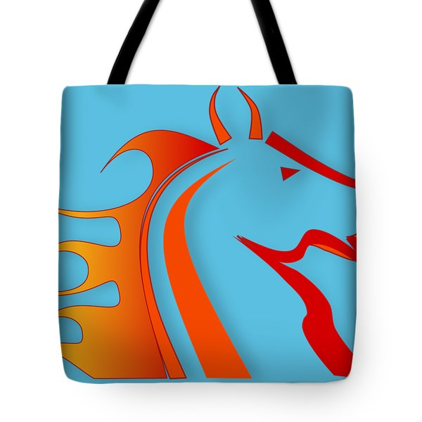 Fire Horse Tote Bag