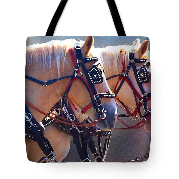 Fire Horses Tote Bag