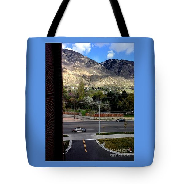 Fire Hydrant Guarding The Byu Y Tote Bag by Richard W Linford