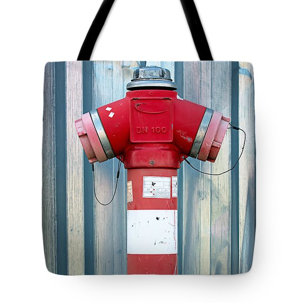 Fire Hydrant Steel Wall Tote Bag