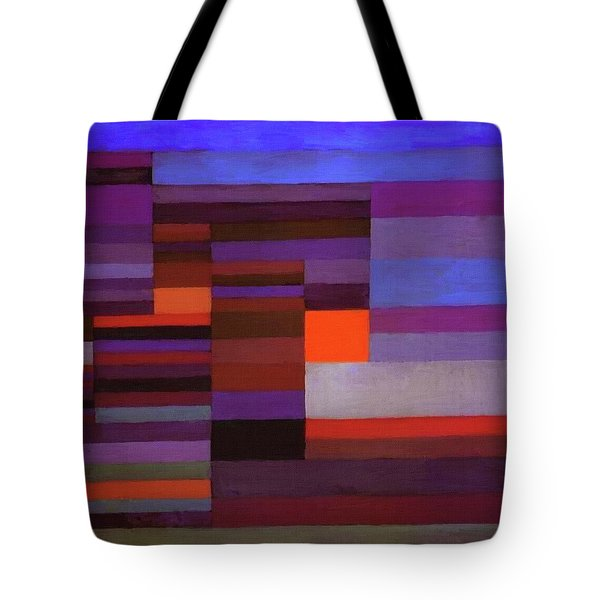 Fire In The Evening Tote Bag