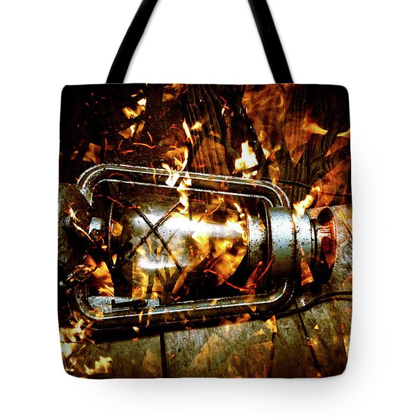 Fire In The Hen House Tote Bag