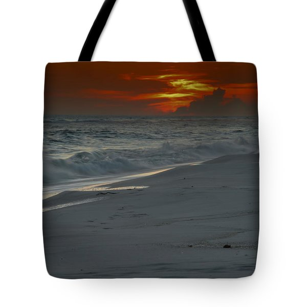 Fire In The Horizon Tote Bag