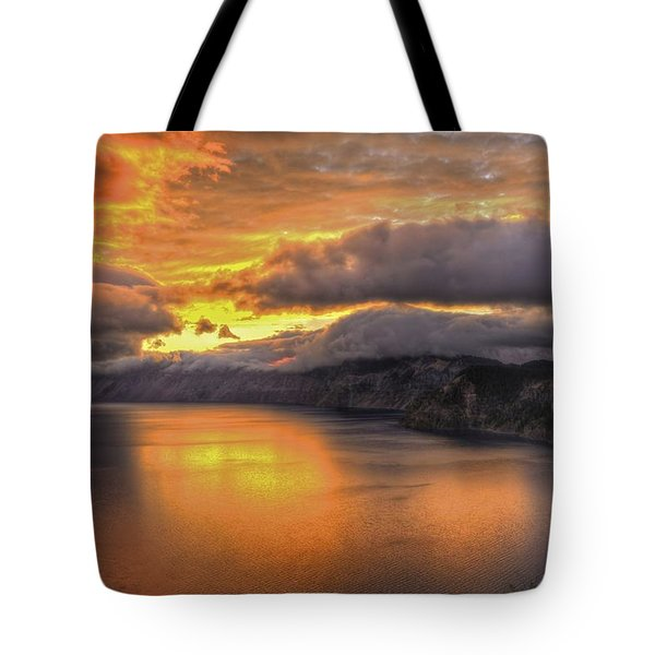 Fire In The Lake #1 Tote Bag