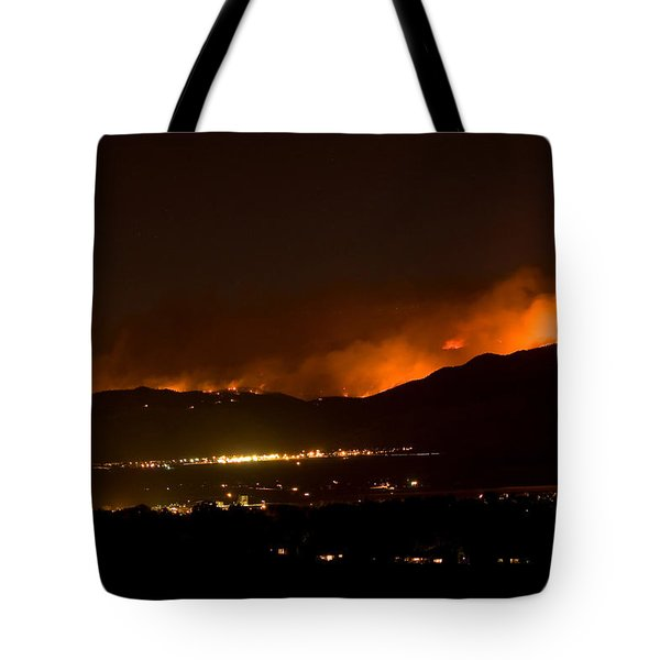 Fire In The Mountains No Lightning In The Air  Tote Bag by James BO  Insogna