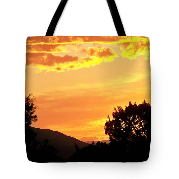Fire In The Sky 1 Tote Bag by Brian  Commerford