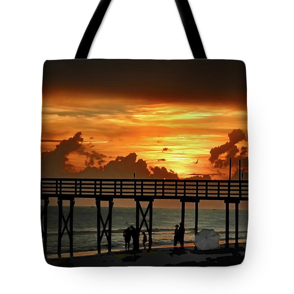Fire In The Sky Tote Bag by Bill Cannon