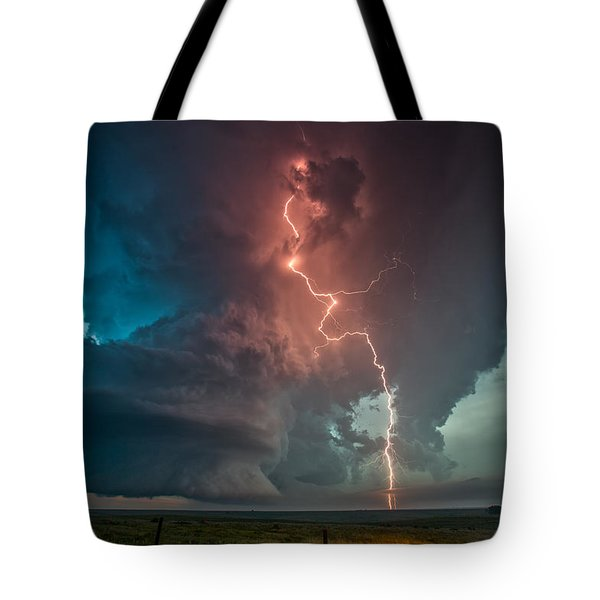 Fire In The Sky. Tote Bag by James Menzies
