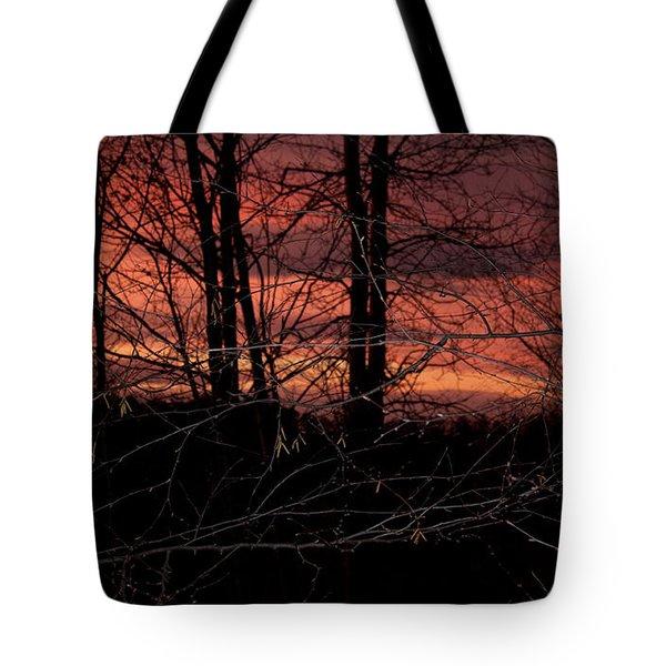 Fire In The Sky Tote Bag by Robert Sander