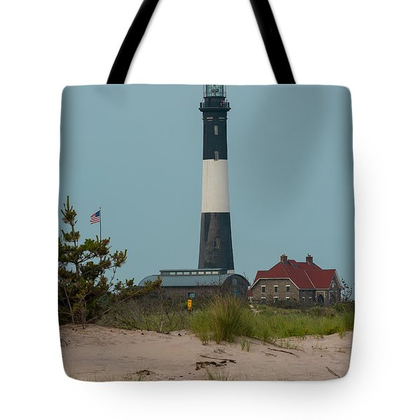 Tote Bag featuring the photograph Fire Island Lighthouse by Jose Oquendo