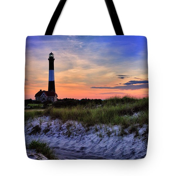 Fire Island Lighthouse Tote Bag by Rick Berk