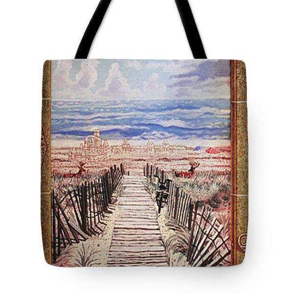 Fire Island Walkway To The Beach Tote Bag