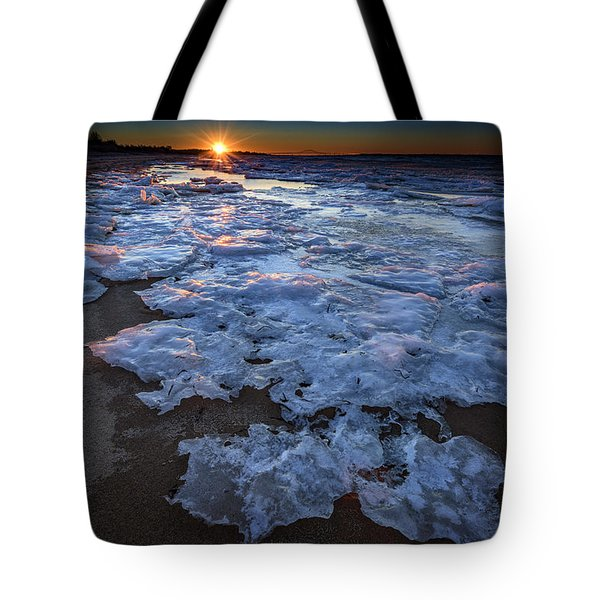 Fire Island Winter Tote Bag by Rick Berk