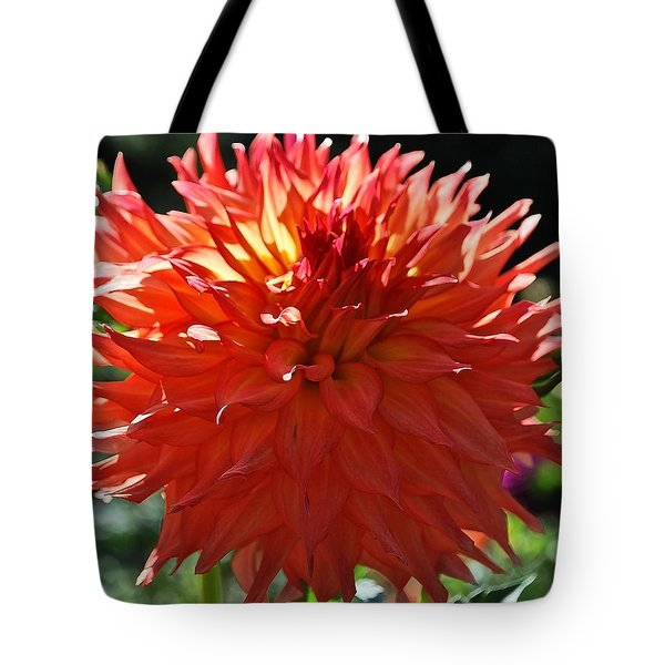 Fire It Up Dahlia  Tote Bag
