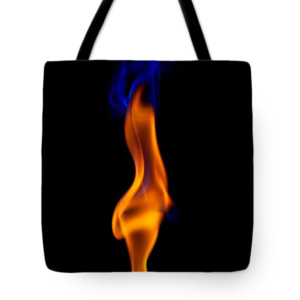 Tote Bag featuring the photograph Fire Lady by Gert Lavsen