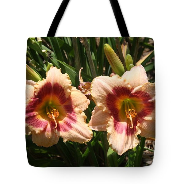Fire Lilies Tote Bag