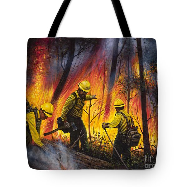 Fire Line 2 Tote Bag