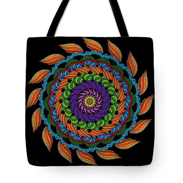 Fire Mandala Tote Bag