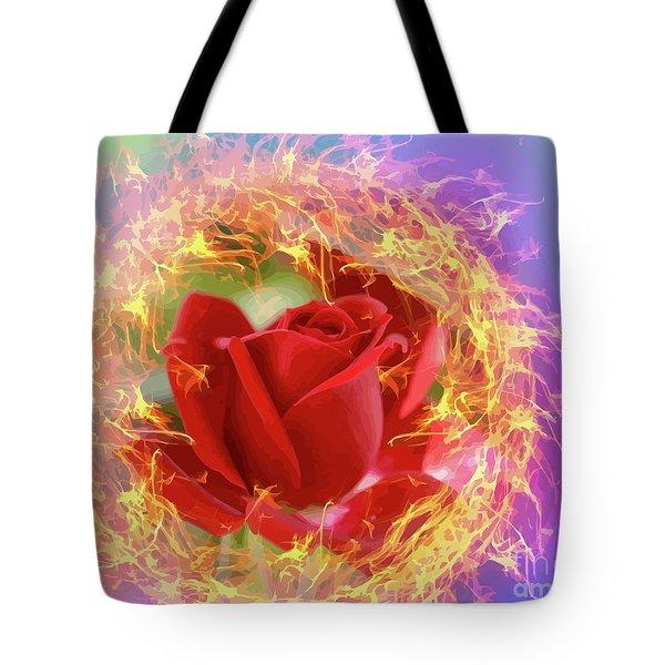 Fire Of Desire Tote Bag