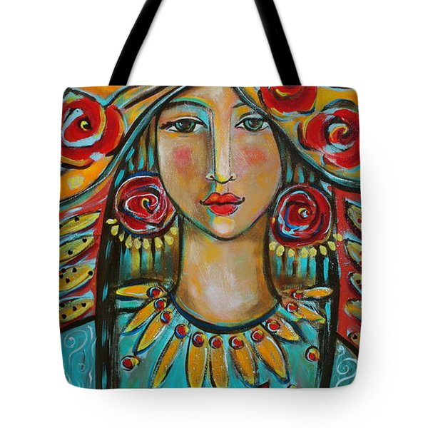 Fire Of The Spirit Tote Bag by Shiloh Sophia McCloud