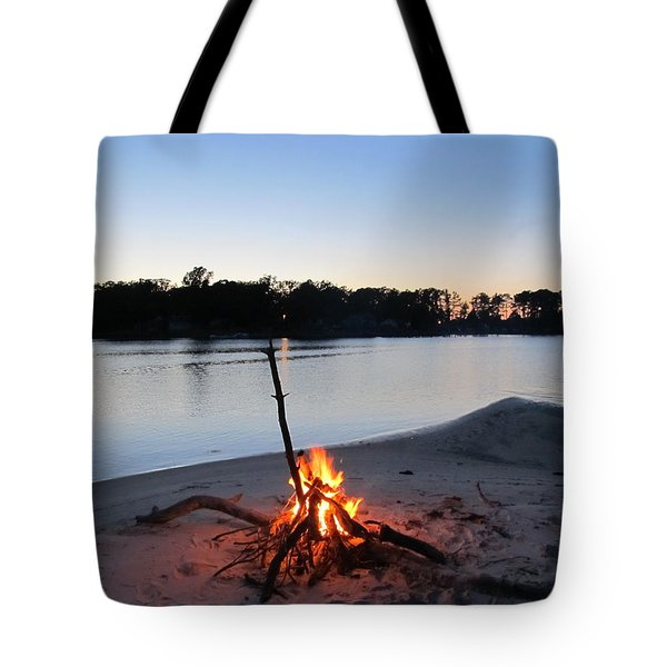 Fire On The Beach Tote Bag