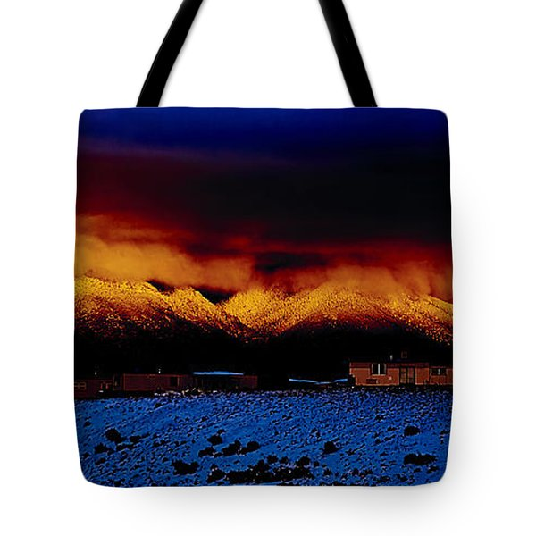 Fire On The Mountain  Tote Bag