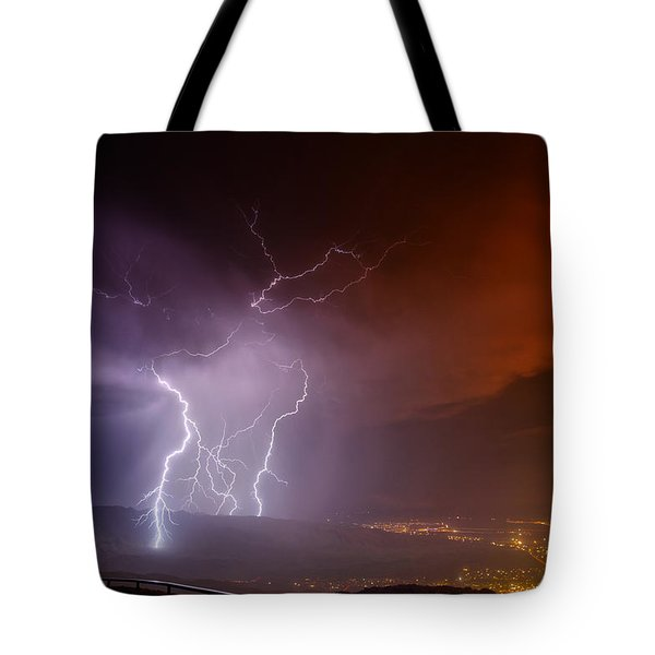 Fire On The Mountain Tote Bag by James Menzies