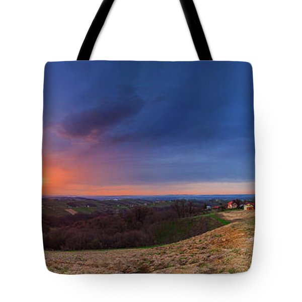 Fire On The West Side Tote Bag