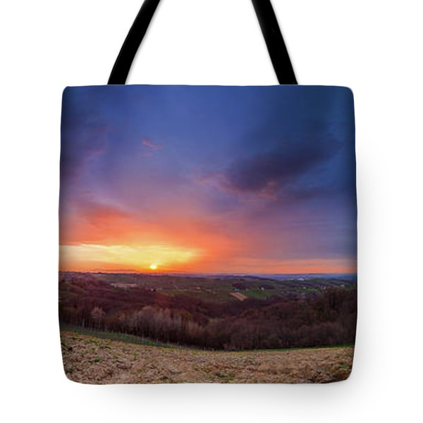 Tote Bag featuring the photograph Fire On The West Side by Davor Zerjav
