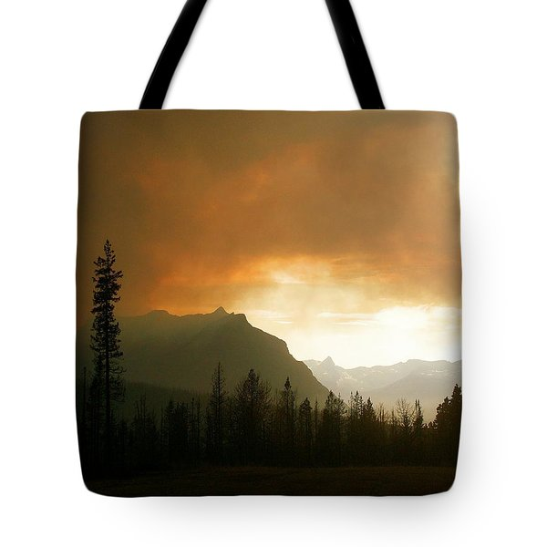Fire Over St Mary Tote Bag