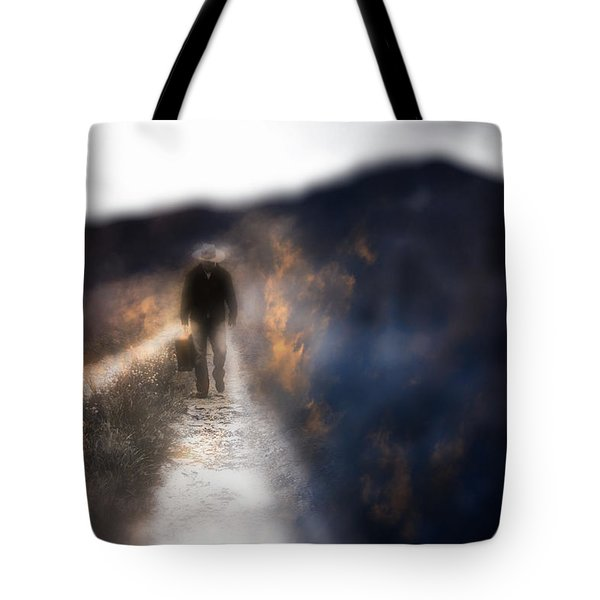 Fire Road Tote Bag by Gray  Artus