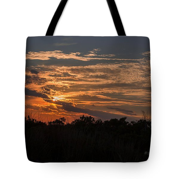Tote Bag featuring the photograph Fire Sky Sunset by Jose Oquendo