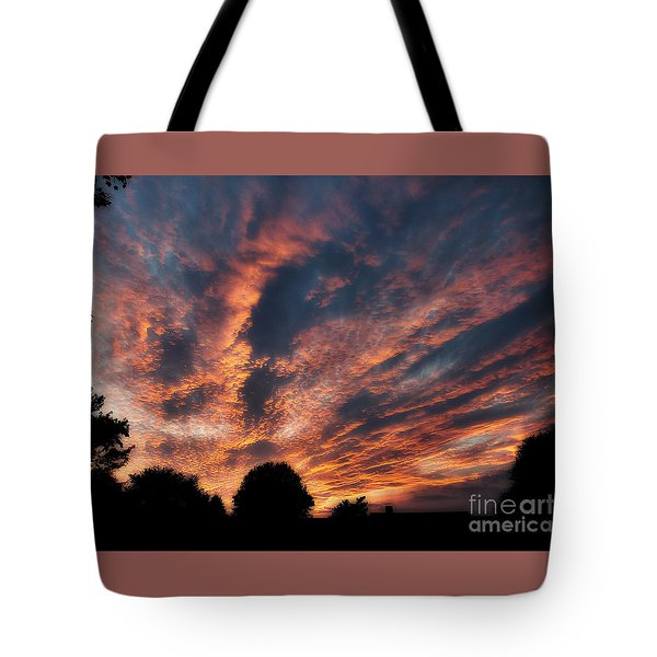 Fire Swept Sky  Tote Bag
