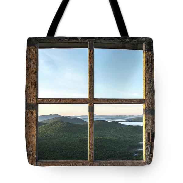 Fire Tower Frame Tote Bag