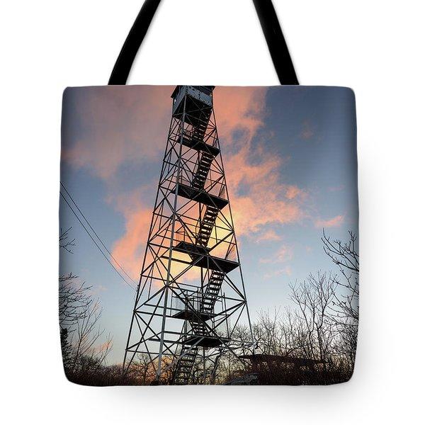 Fire Tower Sky Tote Bag