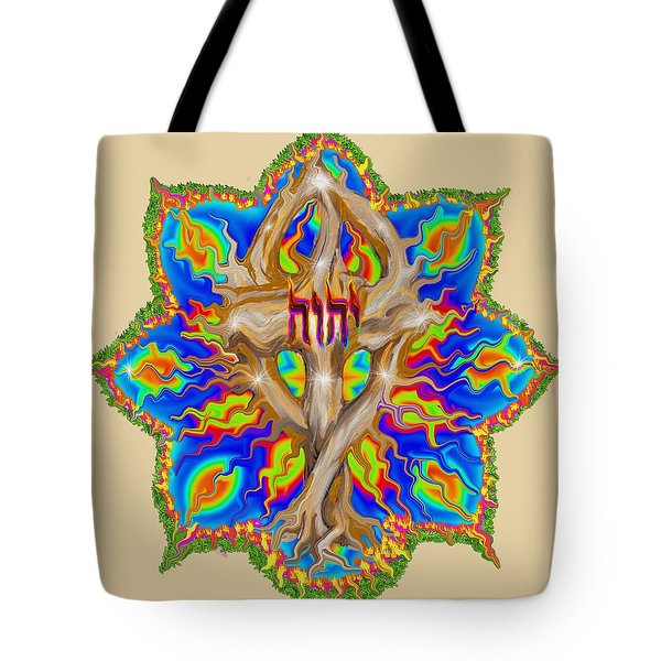 Fire Tree With Yhwh Tote Bag
