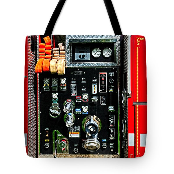 Fire Truck Control Panel Tote Bag by Dave Mills