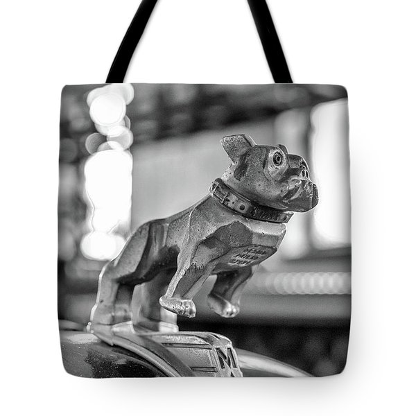 Tote Bag featuring the photograph Fire Truck Hood Ornament by Patricia Schaefer